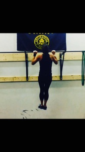 Missie doing her first WOD with completely RX'd pull-ups!