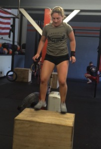 Meg representing CrossFit First Down! Welcome back lady!